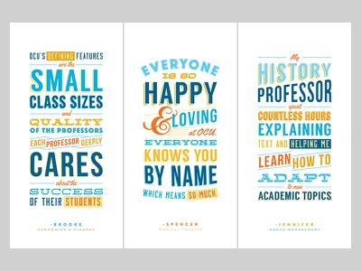 OCU Light Pole Banners quote typography typographic poster banner university college