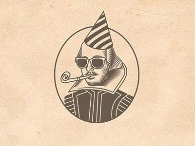 Thou Art Invited graphic illustration invitation birthday party shakespeare