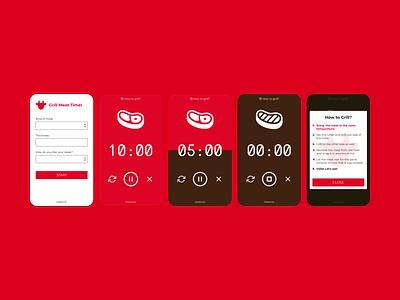 Grill timer app timer app ui design