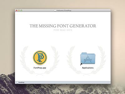 FontPrep Installation  fontprep dmg app