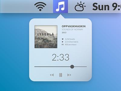 Musikk - a conceptual music app for OSX  app osx