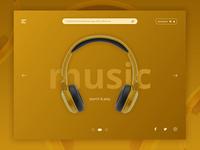 Landing Screen Interface for Music Application