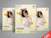 Free A4 poster template (psd)