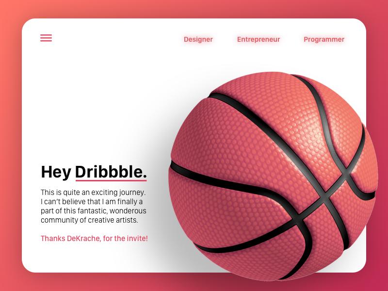 Hey Dribbble ! hello basketball dribbble first shot debut