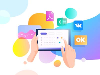Tablet icon web app ui business experience design illustration vector tablet app tablet