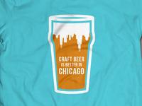 Chicago Beer Foam T-shirt