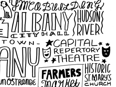 Downtown Albany Handlettering
