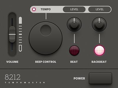 Tempomaster Audio Plugin UI gui skeuomorphism audio plugin ui