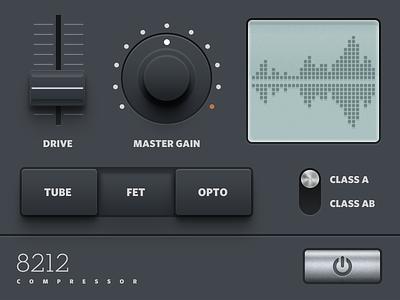 Compressor Audio Plugin UI gui skeuomorphism audio plugin ui