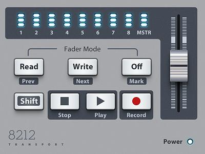 Transport Audio Plugin UI gui skeuomorphism audio plugin ui