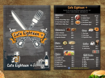 Cafe 18+ Food Menu Card Design photoshop food blog menu bar food branding food app food art food restaurant flyer flyer restaurant branding menutime illustrator food and drink parvez-raton illustration food and beverage menu design menucard restaurant menu card awesome design