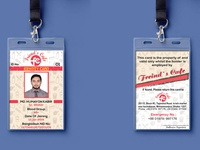ID Card Design for_Reastaurant_Freinds Cafe