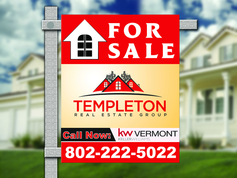 Real Estate sign design simple design illustrator banner design for sale real estate branding real estate agency real estate logo sign