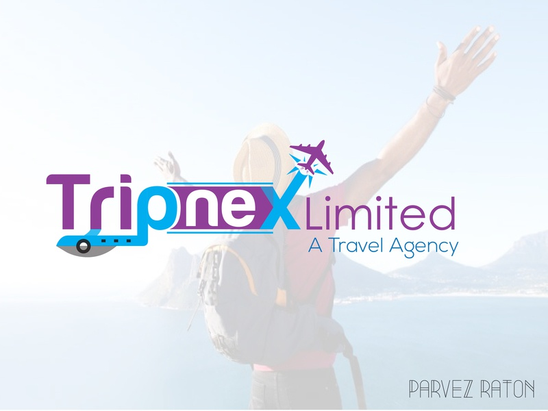 Tripnex Limimed_Logo Design_Parvez Raton touch type flat web app design ui ux icon vector typography illustration logo a day illustrator awesome design track tourism logo travel branding