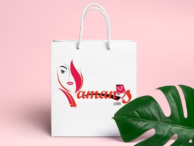 Yamanas.com - ecommerce Logo Design_parvez_raton illustration app girls night shopping bag shopping e commerce logofolio icon clean  creative vector artwork ui logos typography e logo awesome design fashion brand illustrator ecommerce design logo branding