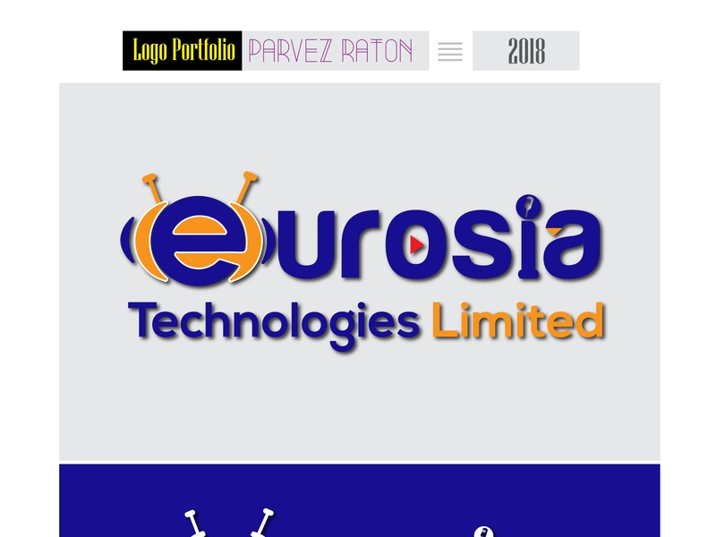 Eurosia Technologies_Logo Design_Parvez Raton illustration logo a day logoseeker radio show youtube icon vector technologies technology logo tech logo technology illustrator branding logo typography awesome design