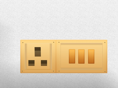 Electric Switch Design by photoshop_parvezraton ecommerce electric flat branding ux illustration vector icon logo design awesome design
