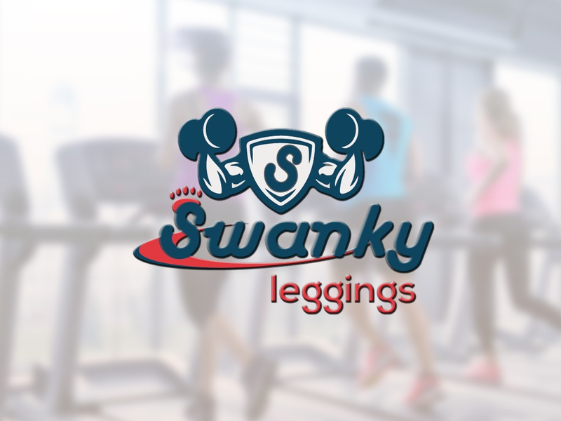 Swanky Leggings Logo design_parvez Raton identity minimal type vector ux lettering branding illustration graphic website app gym logo flat typography icon logo design illustrator awesome design