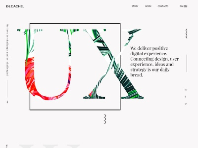 Concept for creative agency uiux design