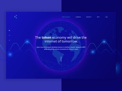 Project concept ux ui page landing blockchain cryptocurrency bitcoin