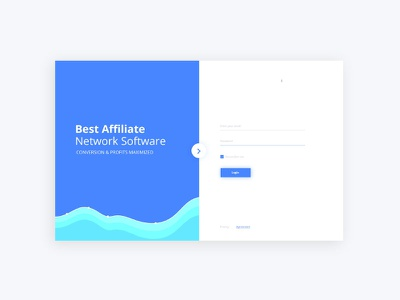 Network Software Login Screen redesign design signup signin split landing login