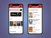 Suomalainen Kirjakauppa app concept
