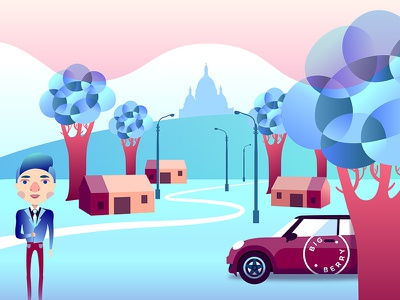 A New Montmartre inforgraphic architecture character illustrator illustration