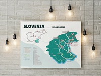 Infographic map of Slovenia