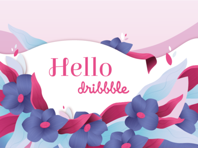 Hello Dribble illustrator cc vector illustration illustration