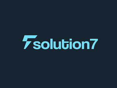 Solution 7   Technology Startup Logo brand and identity minimalist logo startup tech logo logo design brand identity logo