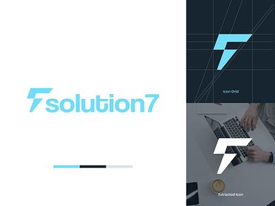 S + 7 Logo for Technology Startup new business startup technology thunderbolt minimalist logo design brand identity logo