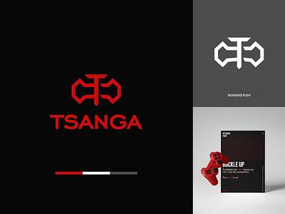 Tsanga   Brand Identity Concept minimal logo designer gaming logo gaming logo concept logo design brand identity logo