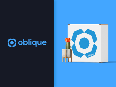 Oblique   Brand Identity branding design brand and identity logo design minimalist logo modern logo modular packaging logo brand identity