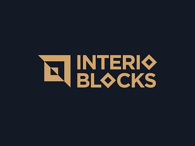 Interior decorator Logo minimalist wordmark squares logo designer interior design branding concept logo design brand identity geometric modern decor logo interior