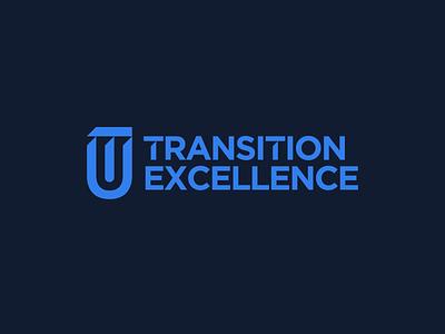 Transition Excellence Logo startup logo education logo brand and identity blue brand identity monogram startup education minimalist logo wordmark