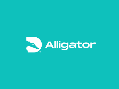 Alligator Logo designer logo design brand negative space logotype graphic designer logo designer minimal alligator animal logo brand identity