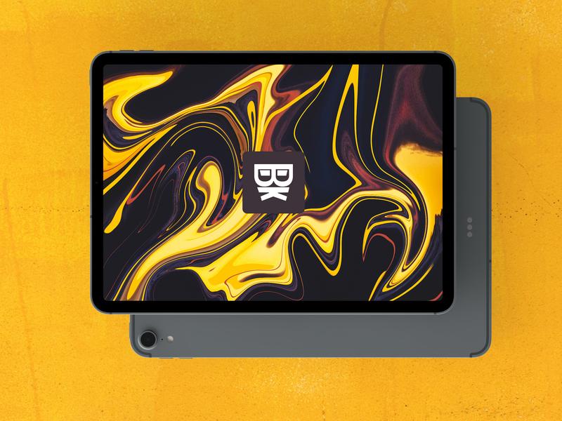 Personal Branding ipad pro apple liquid illustration branding