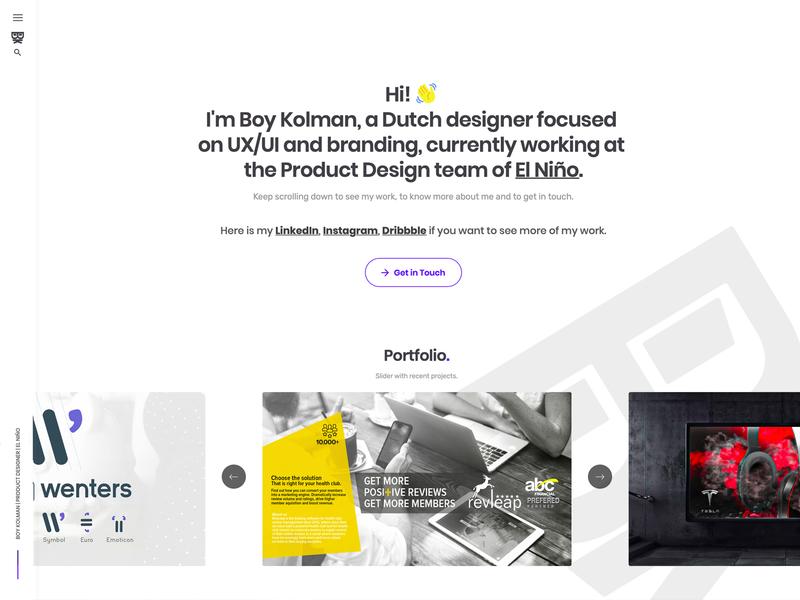 UX/UI Portfolio clean identity ux ui portfolio navigation design branding