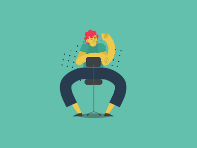 Idea-animated animation illustration character sitting flick thoughtspot thinking motiongraphics motion design bulb ideas idea
