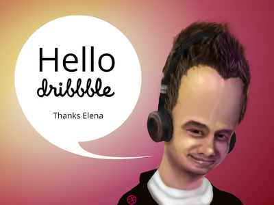 Hello Dribbble caricature illustration hello dribbble