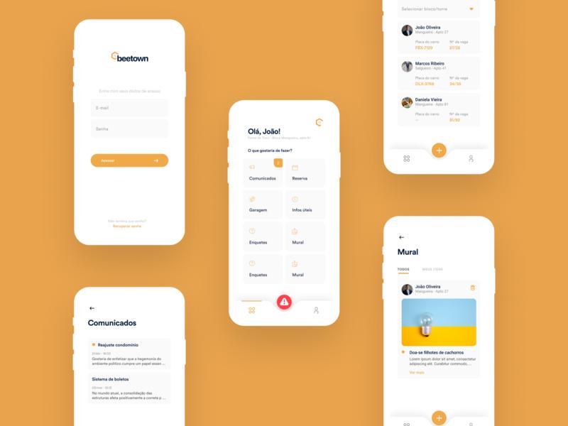 BeeTown ux mobile ui ios design app