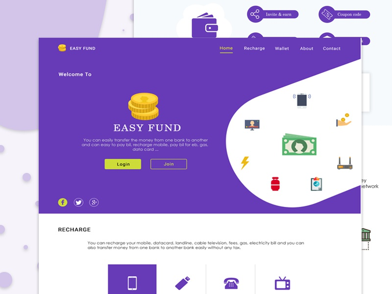 Online Recharge Landing Page by Thiyagaraj on Dribbble