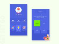 Quiz App illustration branding dribbble dribbbleui dailyui exam flatdesign flat minimal clean ui dashboard education learning quiz profile vector uiux white blue