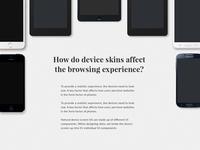 Arranging device skins