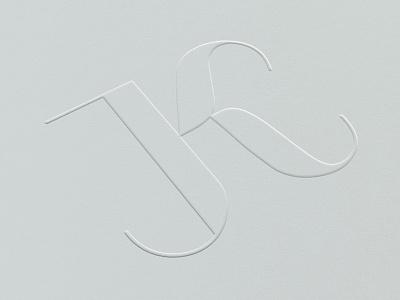 JK Monogram initials logo monogram