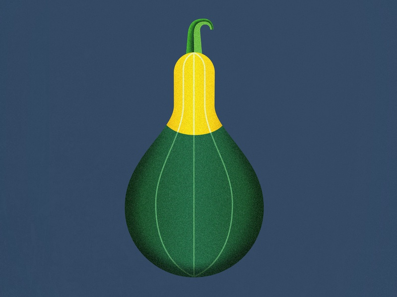 Bicolor Spoon Pumpkin geometric vegetables veggies field harvest organic structured green yellow halloween mezzotint photoshop illustrator bicolor spoon pumpkin illustration