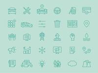 Icon Set for Sono Motors