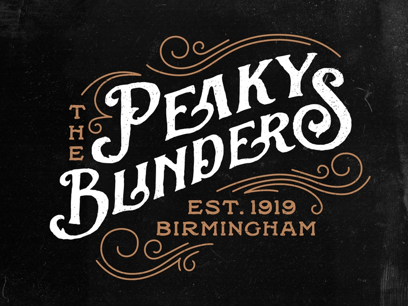 Peaky Blinders Logo retro decorative elements rough grunge birmingham england netflix back willow sortdecai vintage 1920s logodesign logo peaky blinders