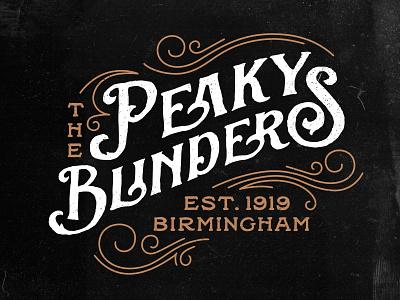 Peaky Blinders Logo retro decorative elements rough grunge birmingham england netflix back willow sortdecai vintage 1920s logodesign logo peaky blinders