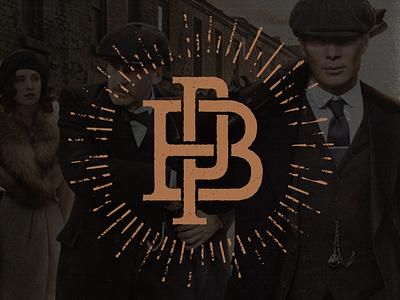 Peaky Blinders Monogram movielogo vintage pb grunge texture logo monogram peaky blinders